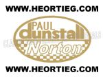 Paul Dunstall Norton Tank and Fairing Transfer Decal D20084A-3